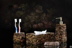 soap dispenser dish toothbrush holder tissue box towel rack base bathroom