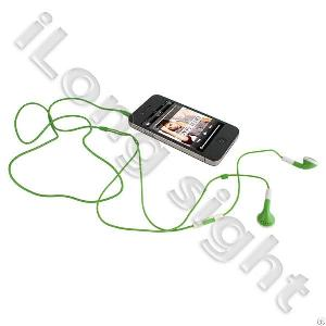 High Quality Earphone With Volume Control Function For Iphone Green