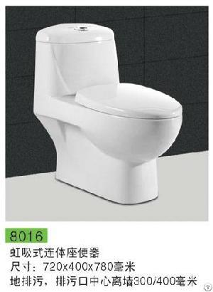 Superior 8036 One Piece Toilet Hidden Water Tank Flush Cistern