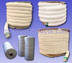 mowco ceramic fiber twisted braided square round rope yarn