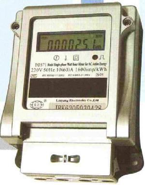 Dds71-static Single-phase Watt-hour Meter For Ac Active Energy / With Anti-tamper Function / With Rs