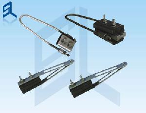 four core collecting strain clamp anchor
