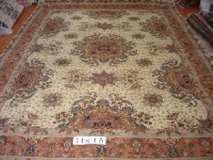 silk wool mixed rugs