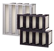 mini pleated v bank hepa air filters