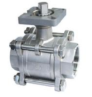 stainless steel carbon 3pc ball valves mounted pad