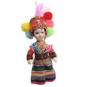 ceramic doll nepal folk costume