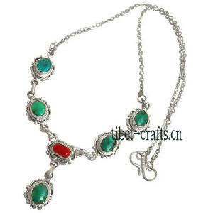 coral pendants turquoise necklaces