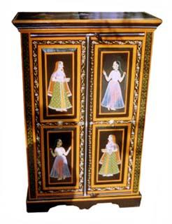 indian painted furniture manufactuer exporter box almirah