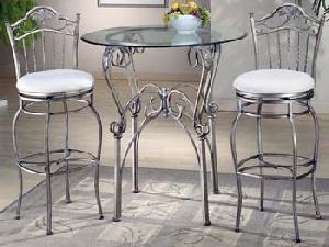 wrought iron furniture exporter furnitue metal silver