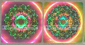 customized hologram sticker printing