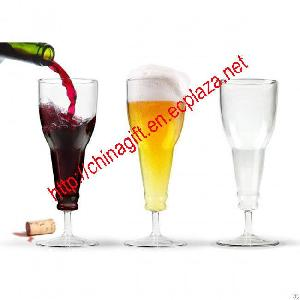 beer deaux longneck wine bottle glass