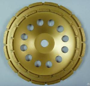 row cup wheel concrete segmented grinding