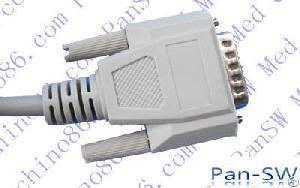 edan 10 leads ecg cable aha iec
