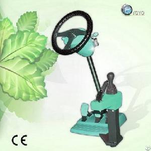 Light Blue Portable Driving Simulator Machine