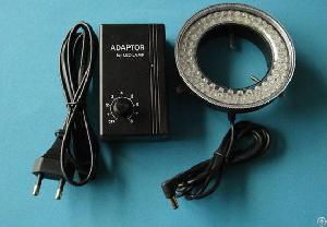 Diameter 70mm Microscope Led Ring Light With Plastic Adaptor Brightness Adjustable