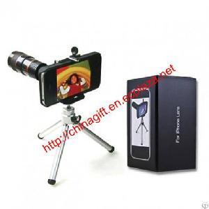 8x lens optical magnification telescope mini tripod iphone 4 4s