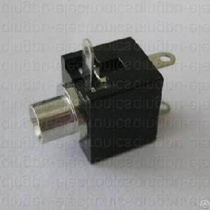 2 5mm jack mono switched panel mount non threaded