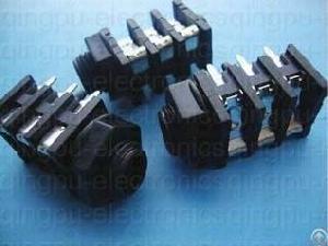 6 35mm stereo jack socket right angle