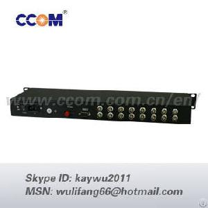 multi 16 channel video optical transmission