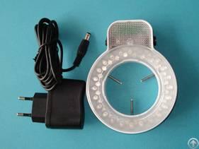 d60mm førte lys og belysning til mikroskop ring lampe lylight 48led pære