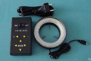 Microsc�pios Yk-b144t Monozoom Quatro Quadrantes Controlados 144-led Anel Luz Luzes Fibra �ptica