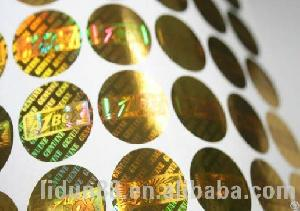 Printed Hologram Paper And Security Sticker