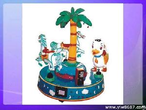 Coin Operated Kiddie Ride, Mini Merry-go-round, Kids Carousel For Amusement Parks