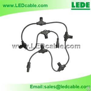 led lighting waterproof cable multiple ports t junction