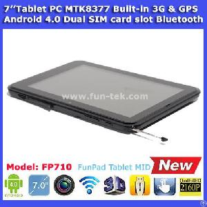 Bluetooth Gps 3g Phone Tablet Pc 7 Inch Mtk8377 Android 4.0 Dual Sim Card 512mb 8gb Black For Sale