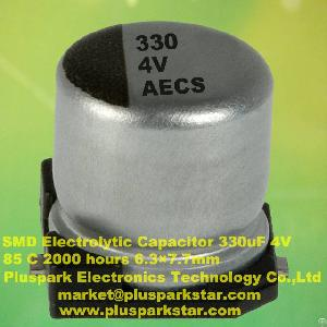 Smd Electrolytic Capacitors 4v 330uf 85c 2000 Hours 20%, -20%, M