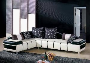 sofa leather modern living room 808