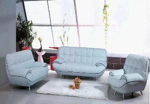 sofa leather modern living room furniture q09