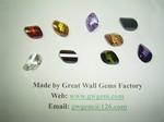 15x22mm cubic zirconia cz twisted treasure round beads drop teardrop briolette pendant ring