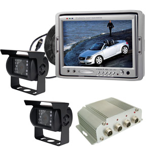 Car Rear-view System With Switching Box, 7 Inch Lcd Monitor And Cameras