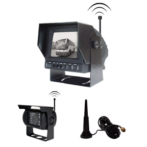 Car Wireless Rear-view System With B / W Crt Monitor And Cctv Camera