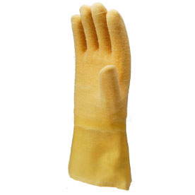 Natural Rubber Coated Work Gloves With Cotton Woven And Knitted Ma-3121