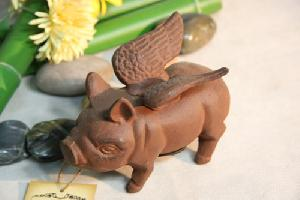 cast iron flying piggy bank