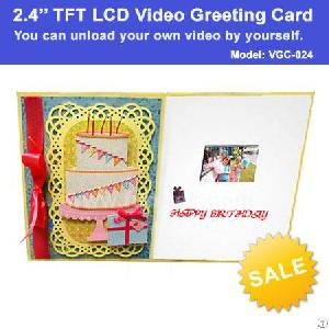 2.4 Inch Tft Lcd Video Brochure Greeting Card For Business Advertising Promotional Gifts Vgc-024