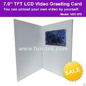 Customized 7 Inch Color Digital Video Greeting Card Advertising Player 2gb Lcd Brochure 1080p
