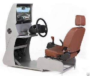 green learn driving simulator game machine
