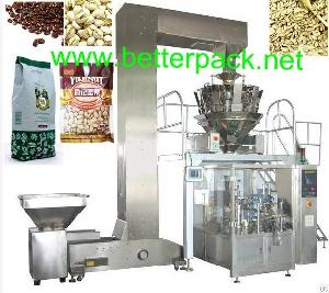 Automatic Coffee Beans Nuts Bagging Machine, Auto Weighing Filling Sealing Machine