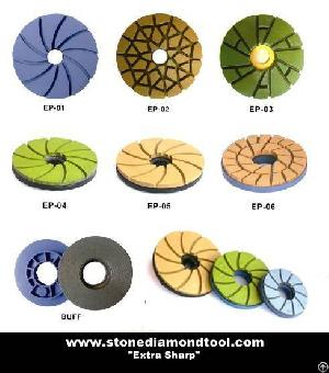 edge polishing pads snail lock