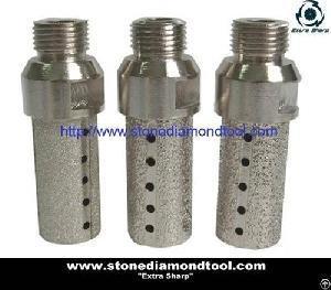 vacuum brazed diamond cnc finger bit