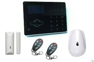touch keypad gsm alarm system lcd display