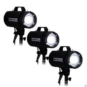 Led100wa Daylight Led 5600k Studio 3-light Kit For Photography And Shooting