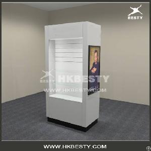 fashion jewelry wall display cabinet mdf slatwall hooks panel