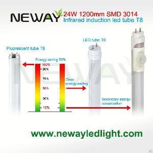 1500mm Pir Infrared Sensor T8 Tube Led Light 24w For Parking Lot