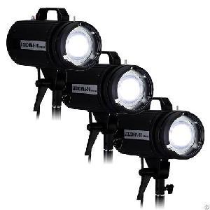 Led100wa-56 / Led200wa-56 Studio 3-light Kit Pro Led Constant Lighting