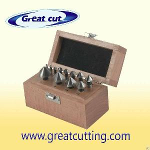 12 Pcs Countersinks Din335c In Wooden Box