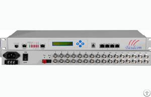 16e1 4 10 / 100m Fiber Optical Multiplexer With Snmp Management And Lcd